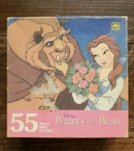 Vintage Golden Disney Beauty and the Beast 55pc Jigsaw Puzzle Belle 500A
