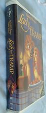BLACK DIAMOND DISNEY Lady and the TRAMP VHS ORIGINAL CLASSIC VHS EXC