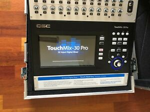 QSC TouchMix 30 Pro Digital Mixer + Flight Case - Hardly Used, Mint Condition !!