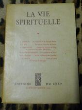 LA VIE SPIRITUELLE N° 376 - Editions du Cerf - Août-septembre 1952