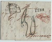 THURN&TAXIS 1832 Brief, LUEBECK nach BORDEAUX/Frankreich via GIVET
