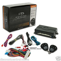 AVITAL 3100LX 3 CHANNEL CAR ALARM SYSTEM W/ 2 REMOTES AND KEYLESS ENTRY