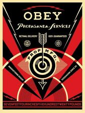 Shepard Fairey Propaganda Services Eye Poster Art Print Obey Giant We The People