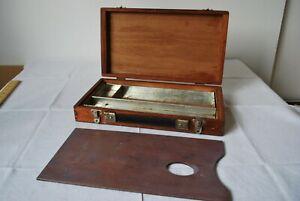 Vintage Wooden Paint Box. Winsor & Newton. 1960's