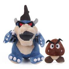 Super Mario Bros. Dark Bowser Koopa and Goomba Stuffed Plush Doll 2pcs