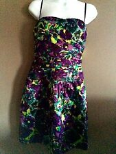Ladies BCBG Purple Floral Sleeveless Party Dress Size 10 NWT Reduced!!!