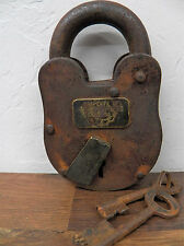 Antique-Finish RUSTIC Pony Express Station Numbered Lock Padlock w/Skeleton Key