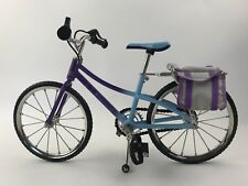 American Girl My AG Trail Bicycle Bike Retired AG Bike Purple Blue Bag