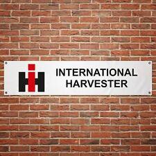 International Harvester Banner Garage Workshop PVC Sign Tractor Farming Display