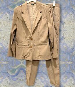 Vintage Wrangler Ladies Suit Juniors 11 Tan Corduroy Two pc Elbow Patches