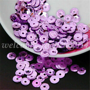 DIY 6mm Faceted Round Loose Sequins Paillettes Bag Sewing Decor Wedding Craft
