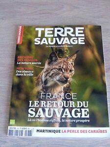 REVUE  TERRE SAUVAGE  N° 358  NOVEMBRE  2018  /  FRANCE , LE RETOUR DU SAUVAGE