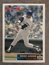 05d2fbea1 1993 Upper Deck Clark Baseball Card  C1 Reggie Jackson New York Yankees Mint