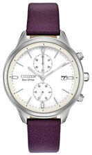 Citizen Eco-Drive Women's FB2000-11A Chandler Chronograph Leather 39mm Watch