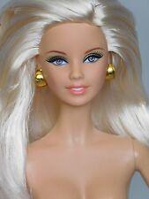 """""""MACKIE"""" BARBIE Model Muse MM Body PLATIUM BLONDE Gray/Lila Eyes NUDE 4 OOAK_NEW"""