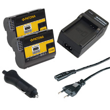 2x Batteria Patona + caricabatterie casa/auto per Nikon MB-D14,MB-D15