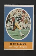 1972 SUNOCO STAMP BILLY PARKS SAN DIEGO CHARGERS