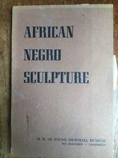Tribal Art Book African Negro Sculpture De Young Museum Rare Publication 1948
