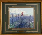 "Bev Doolittle Blue Mesa Framed 23""x19"" Glass Matted Title Plate Camouflage"