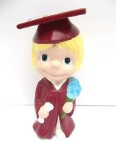 """Graduation Gift Vintage Smiley Girl in Cap and Gown Atlantic Mold Ceramic 10.5"""""""