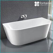 Harper Back to Wall Bath Tub Bathtub White Elegant Bathroom 1700 Modern Luxury