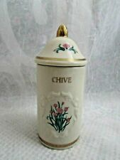 The Lenox Spice Garden Spice Jar Collection 1992  ~ REPLACEMENT ~ CHIVE