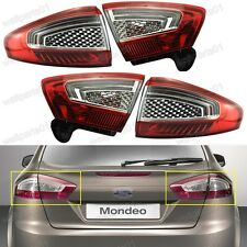 Inner & Outer Rear Tail Back Light Lamps Set For Ford Mondeo 2011-2012
