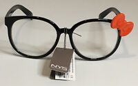 NYS COLLECTION GLASSES STYLE 1777 Cosplay Black Frames with Red Bow UV400