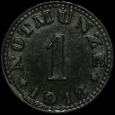 NOTGELD: 1 Pfennig 1918, Zink. H. HEYE GLASFABRIK SCHAUENSTEIN / HESSEN-NASSAU.