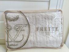 """Frette Euro Pillow Sham Italy 1x Clessidra Ivory 26x26"""" Square Fine Linen New"""