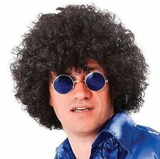 Adult Mens 60s 70s 80s Disco Pop Scouser Afro Wig Hair Fancy Dress Accessory New