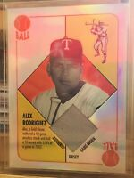 2003 Topps Chrome Relics Red Back Refractor Alex Rodriguez #RBCR-AR
