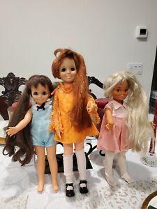 3 Vintage Ideal  Dolls Growing Hair