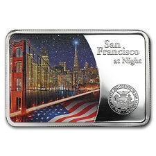 2015 Samoa Silver San Francisco at Night Coin Bar Proof - SKU #91036