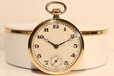 Plated Pocket Watch/ Nice Relief Dial Art Deco Beautiful Swiss Unbranded Gold