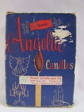 Vintage Candles w Box Angelite Penn Wax Works Secor Landscape 1940s