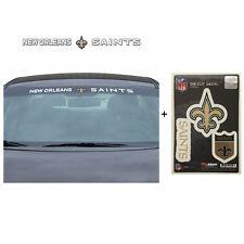 NFL New Orleans Saints Car Truck Suv Windshield Decal Sticker with Bonus