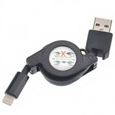 BLACK RETRACTABLE USB CABLE DATA SYNC CORD FAST CHARGER POWER WIRE for iPHONE