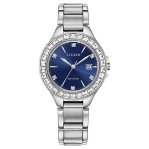 Citizen Eco-Drive - Crystal Accented Blue Dial Women's Watch - FE1190-53L
