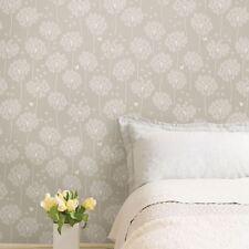 Danelion nuwallpaper Peel & Stick Papier Peint Taupe-portes, murs, meubles NEUF
