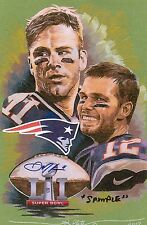 NE PATRIOTS SUPER BOWL CHAMPIONS ART PRINT LTD 51 & REPLICA TICKET