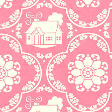 Half Metre Quilting Fabirc Riley Blake Daisy Cottage Collection Damask Pink