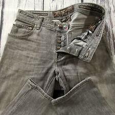 Men's Jacob Cohen Jeans 31 x 32 Handmade 622 Slim Leg in Grey RRP £380