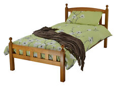 Florida Wooden Bed Frame in Antique Pine Single Double Kids Children's Bed
