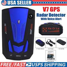Car GPS Radar Detector 16 Band Voice Alert V7 Anti Laser 360 Degree Anti Police