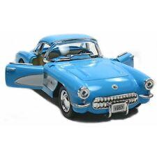 New Kinsmart 1957 Chevrolet Corvette Chevy Diecast Model Toy Car 1:34 Blue
