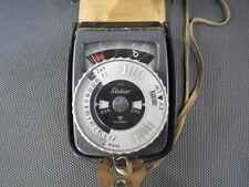 Ancien posemètre GOSSEN SIXTAR étui cuir exposure meter belichtunsmesser