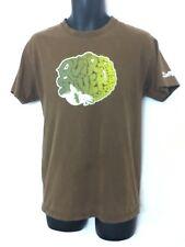 Quicksilver Board Riding Co. Men's Brown T-Shirt w Surf Graphic & Logo! Size M.