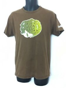 Quiksilver Board Riding Co Mens Brown T-Shirt w Surf Graphic and Logo Size M