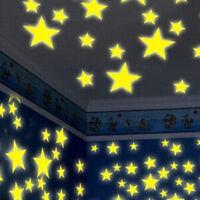 100PC Kids Bedroom Romantic Fluorescent Glow In The Dark Stars Wall Stickers